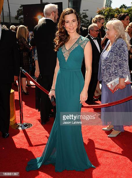 Actress Linda Cardellini attends the 2013 Creative Arts Emmy Awards at Nokia Theatre LA Live on September 15 2013 in Los Angeles California