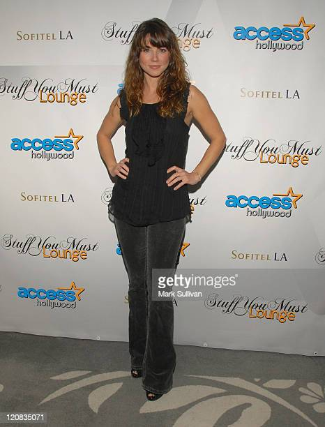 Actress Linda Cardellini attends the Access Hollywood 'Stuff You Must' Lounge produced by On 3 Productions celebrating the Golden Globes held at...