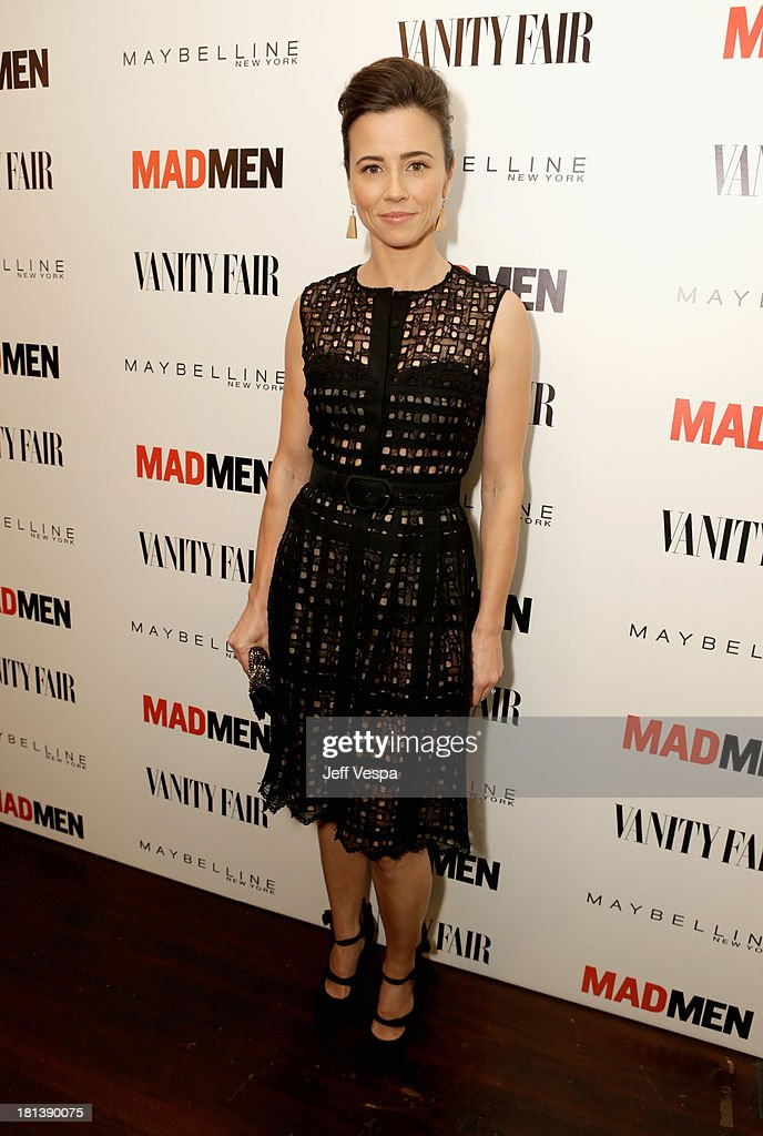 Actress <a gi-track='captionPersonalityLinkClicked' href=/galleries/search?phrase=Linda+Cardellini&family=editorial&specificpeople=215483 ng-click='$event.stopPropagation()'>Linda Cardellini</a> attends Vanity Fair and Maybelline toast to 'Mad Men' at Chateau Marmont on September 20, 2013 in Los Angeles, California.