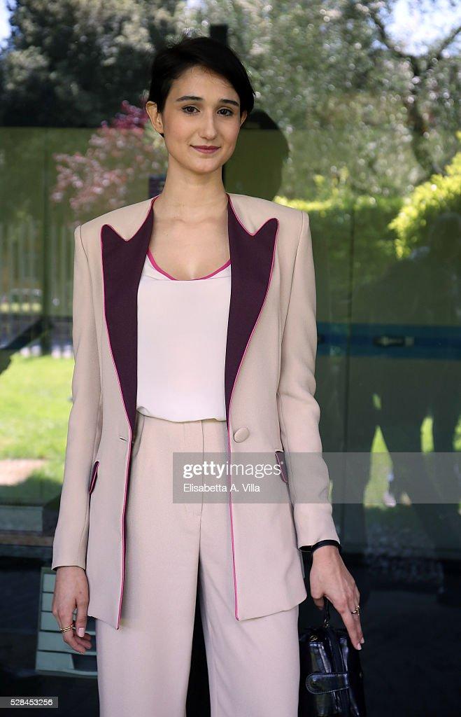 Actress Linda Caridi attends a photocall for 'Felicia Impastato' RAI TV movie at Viale Mazzini on May 5, 2016 in Rome, Italy.