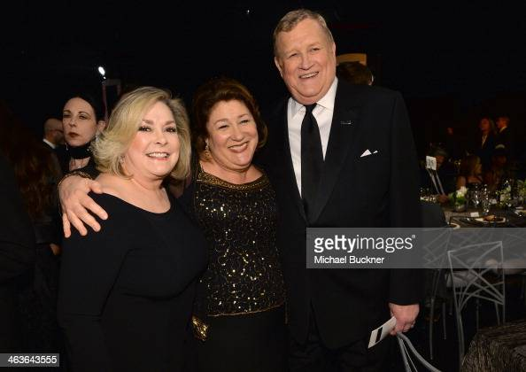 Actress Linda Fetters actress Margo Martindale and SAGAFTRA President Ken Howard in the audience during 20th Annual Screen Actors Guild Awards at The...
