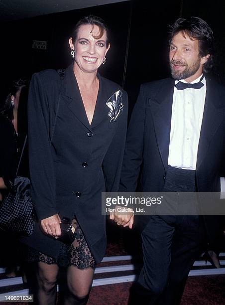 Actress Linda Gray and actor Michael Brandon attend the Second Annual American Comedy Awards on May 17 1988 at the Hollywood Palladium in Hollywood...