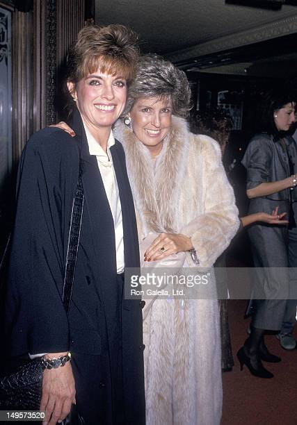 Actress Linda Gray and sister Betty Gray attend a Party to Celebrate Jill Ireland's Autobiography 'Life Wish' on January 19 1987 at The Bistro in...