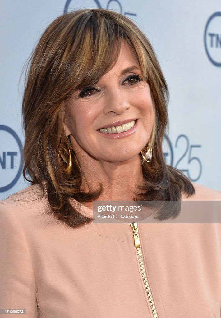 Actress Linda Gray arrives to TNT's 25th Anniversary Party at The Beverly Hilton Hotel on July 24, 2013 in Beverly Hills, California.