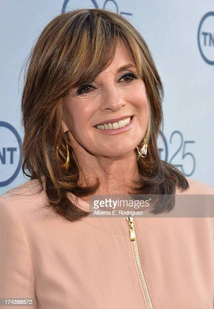 Actress Linda Gray arrives to TNT's 25th Anniversary Party at The Beverly Hilton Hotel on July 24 2013 in Beverly Hills California