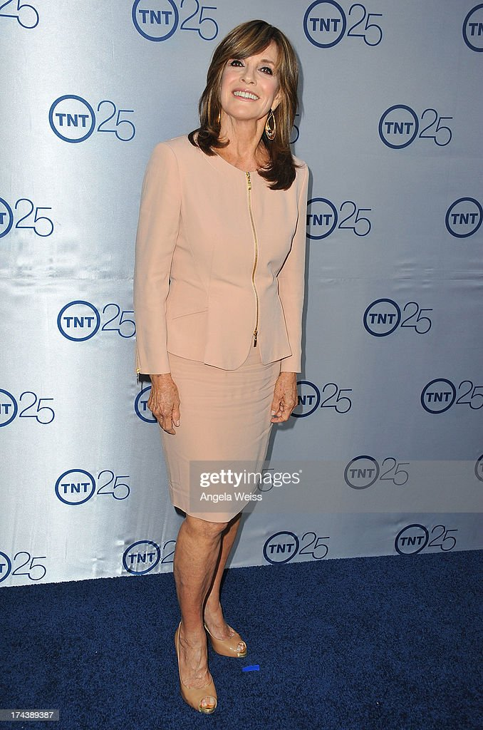 Actress <a gi-track='captionPersonalityLinkClicked' href=/galleries/search?phrase=Linda+Gray&family=editorial&specificpeople=159564 ng-click='$event.stopPropagation()'>Linda Gray</a> attends TNT's 25th Anniversary Partyat The Beverly Hilton Hotel on July 24, 2013 in Beverly Hills, California.