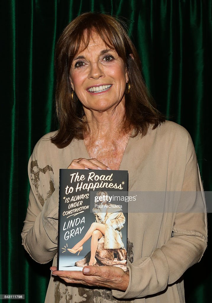 Actress Linda Gray signs copies of her new book 'The Road To Happiness Is Always Under Construction' at Vroman's Bookstore on June 25, 2016 in Pasadena, California.