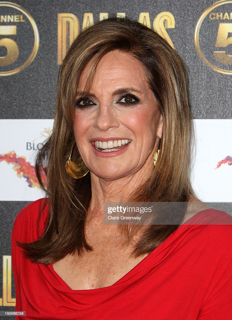 Actress Linda Grey arrives at the launch party for the new Channel 5 television series of 'Dallas' at Old Billingsgate on August 21, 2012 in London, England.