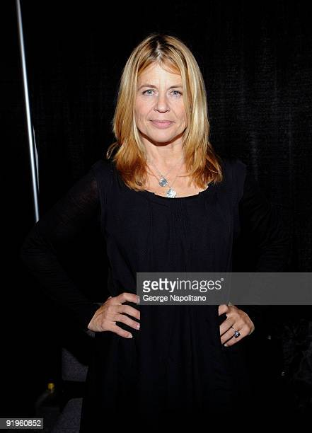 Actress Linda Hamilton attends Big Apple Comic Con at Pier 94 on October 16 2009 in New York City