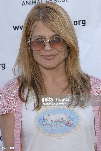 Actress Linda Hamilton attends Much Love Animal Rescue Present's Shop 'Til You Drool at the 5th Sunset Studios on April 30 2005 in Los Angeles...
