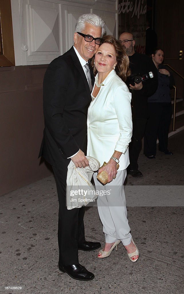 Actress <a gi-track='captionPersonalityLinkClicked' href=/galleries/search?phrase=Linda+Lavin&family=editorial&specificpeople=645189 ng-click='$event.stopPropagation()'>Linda Lavin</a> (R) and husband Steve Bakunas attend the 'I'll Eat You Last' Broadway Opening Night at the Booth Theatre on April 24, 2013 in New York City.
