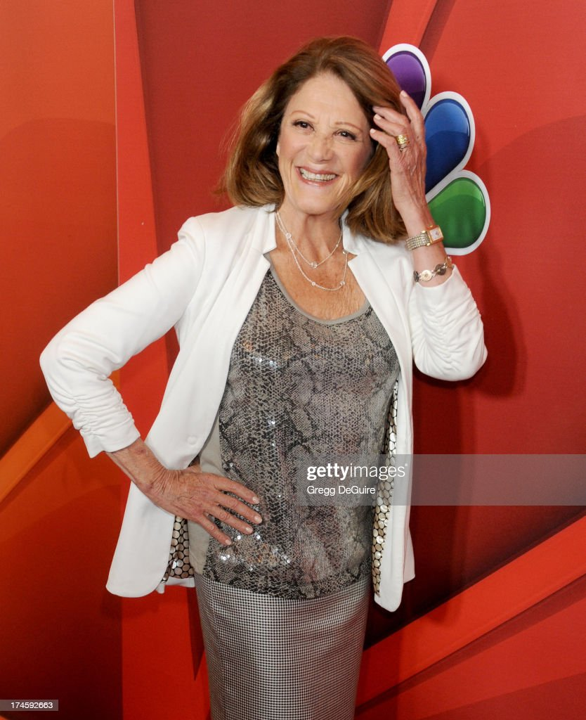 Actress <a gi-track='captionPersonalityLinkClicked' href=/galleries/search?phrase=Linda+Lavin&family=editorial&specificpeople=645189 ng-click='$event.stopPropagation()'>Linda Lavin</a> arrives at the 2013 NBC Television Critics Association's Summer Press Tour at The Beverly Hilton Hotel on July 27, 2013 in Beverly Hills, California.