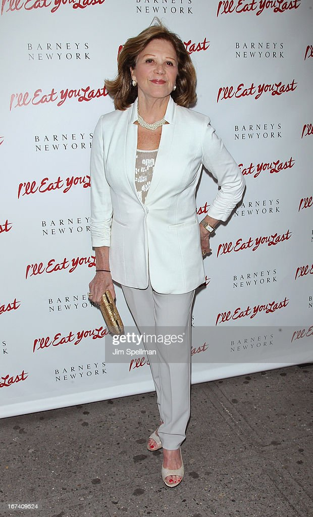 Actress <a gi-track='captionPersonalityLinkClicked' href=/galleries/search?phrase=Linda+Lavin&family=editorial&specificpeople=645189 ng-click='$event.stopPropagation()'>Linda Lavin</a> attends the 'I'll Eat You Last' Broadway Opening Night at the Booth Theatre on April 24, 2013 in New York City.