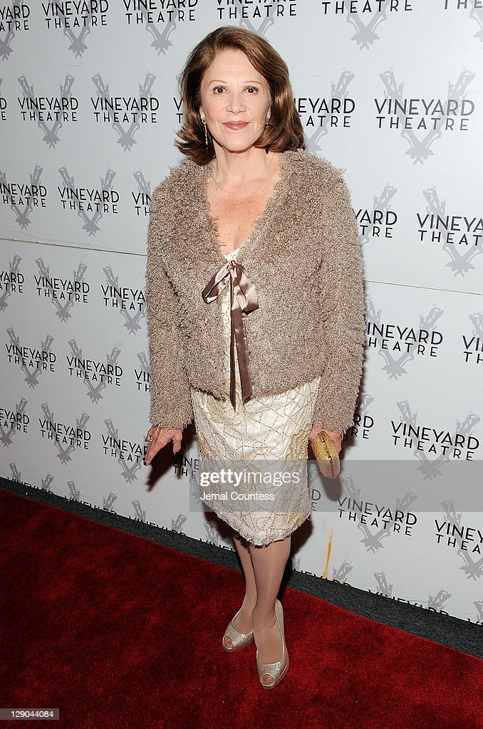 Actress <a gi-track='captionPersonalityLinkClicked' href=/galleries/search?phrase=Linda+Lavin&family=editorial&specificpeople=645189 ng-click='$event.stopPropagation()'>Linda Lavin</a> poses for a photo on the opening night of 'The Lyons' at the Vineyard Theatre on October 11, 2011 in New York City.