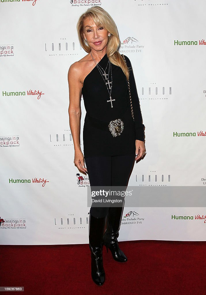 Actress <a gi-track='captionPersonalityLinkClicked' href=/galleries/search?phrase=Linda+Thompson+-+Actress&family=editorial&specificpeople=13681123 ng-click='$event.stopPropagation()'>Linda Thompson</a> attends the Kentucky Derby Prelude Party at The London West Hollywood on January 10, 2013 in West Hollywood, California.