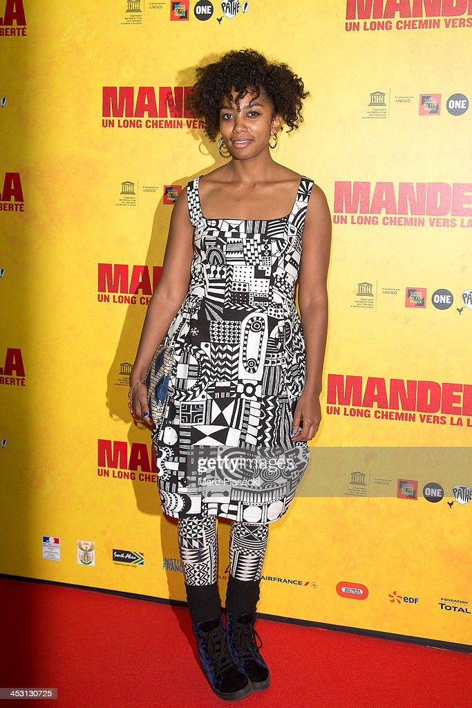 Actress Lindiwe Matshikiza attends the 'Mandela: Long Walk to Freedom' Paris premiere at UNESCO on December 2, 2013 in Paris, France.