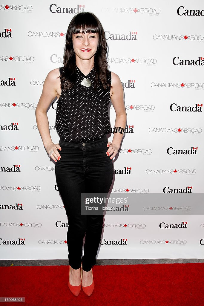 Actress Lindsay Ames attends the 2013 Canada Day in LA party at Wokano restaurant on June 30, 2013 in Santa Monica, California.