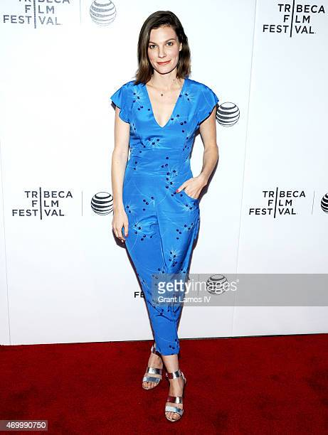 Actress Lindsay Burdge attends the premiere of 'Come Down Molly' during the 2015 Tribeca Film Festival at Regal Battery Park 11 on April 16 2015 in...