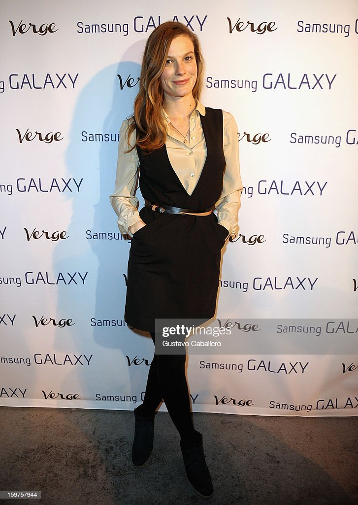 Actress Lindsay Burdge attends The Verge List Party at the Samsung Gallery Launch Party To Celebrate The Verge List - 2013 on January 19, 2013 in Park City, Utah.