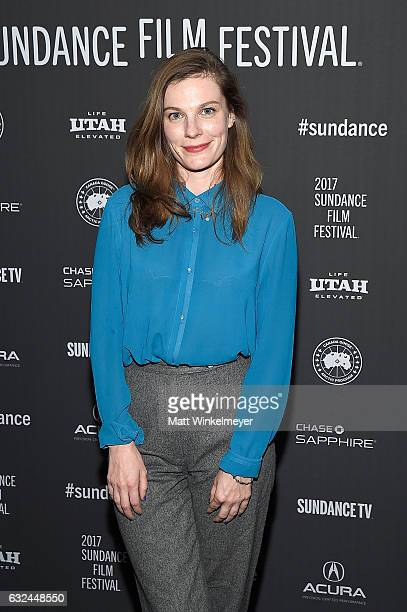 Actress Lindsay Burdge attends the 'XX' Premiere on day 4 of the 2017 Sundance Film Festival at Library Center Theater on January 22 2017 in Park...