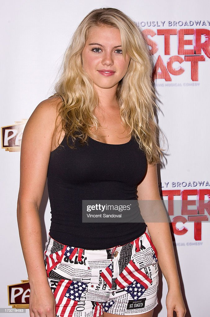 Actress Lindsay Bushman attends the Los Angeles opening night of 'Sister Act' at the Pantages Theatre on July 9, 2013 in Hollywood, California.