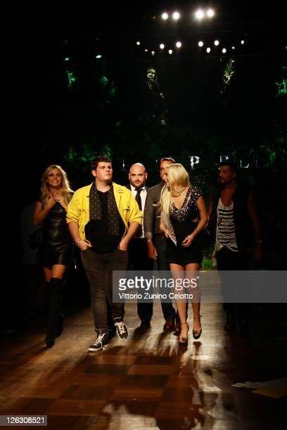 Actress Lindsay Lohan and Eli Mizrahi attend the Philipp Plein Urban Jungle Spring/Summer 2012 fashion show after party as part Milan Womenswear...