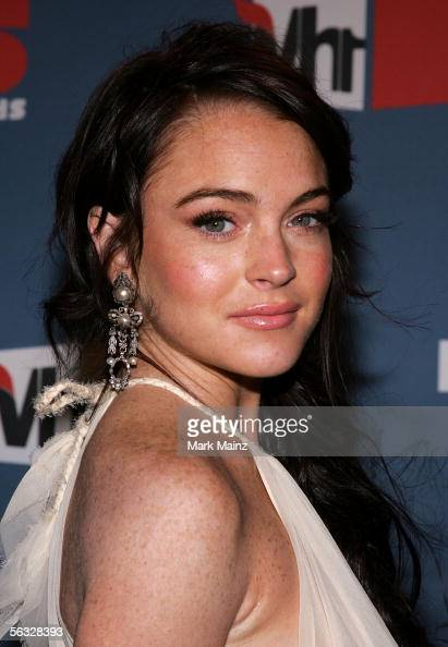 Actress Lindsay Lohan arrives at the VH1 Big In '05 Awards held at Stage 15 on the Sony lot on December 3 2005 in Culver City California