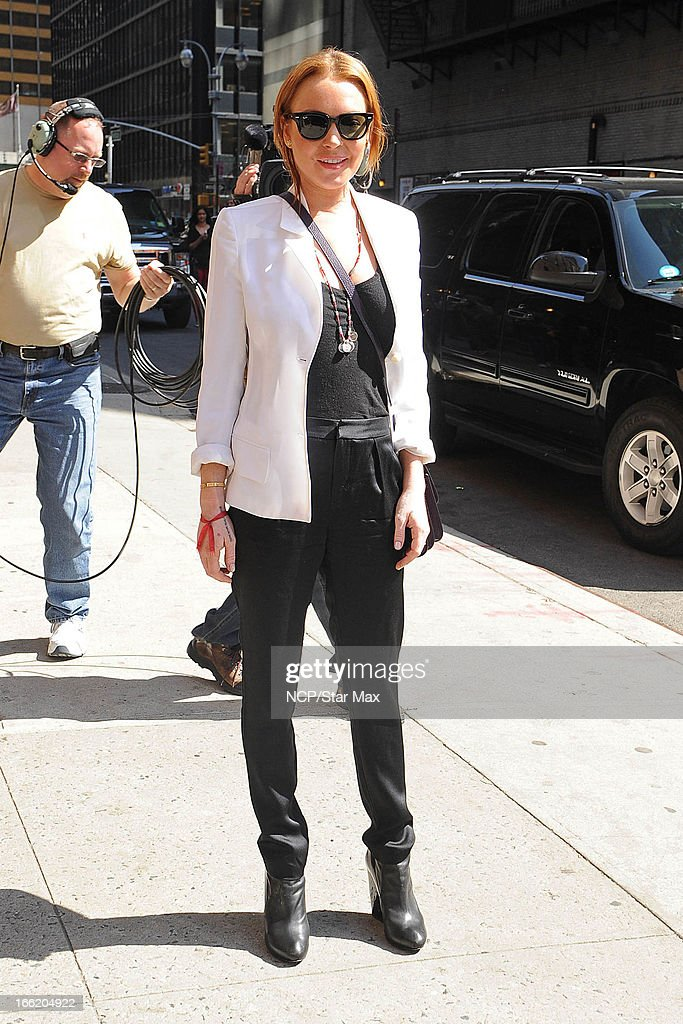 Actress Lindsay Lohan as seen on April 9, 2013 in New York City.