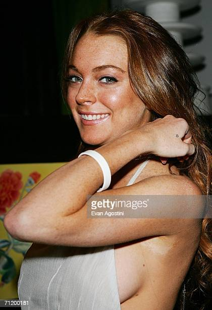 Actress Lindsay Lohan attends a Calvin Klein Collection toast to Francisco Costa's CFDA Women's Wear designer of the Year award at Chinatown...
