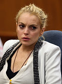 Actress Lindsay Lohan attends a court hearing at Beverly Hills Municipal Court on October 16 2009 in Beverly Hills California Lohan was ordered to...