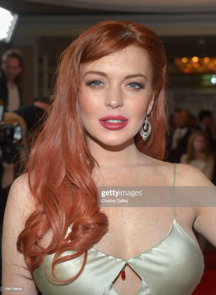 Actress Lindsay Lohan attends a private dinner for the Lifetime premier of 'Liz & Dick' at Beverly Hills Hotel on November 20, 2012 in Beverly Hills, California.