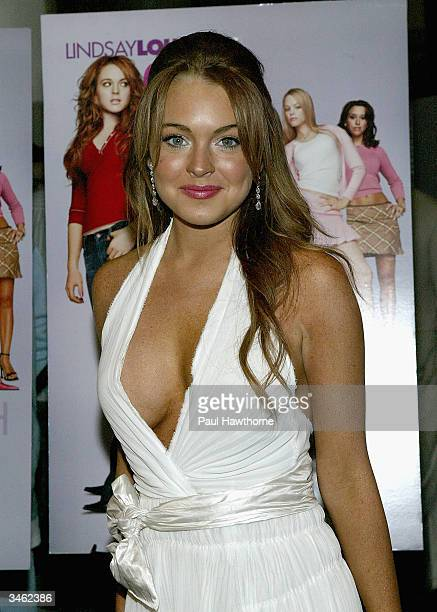 Actress Lindsay Lohan attends a private screening of 'Mean Girls' on April 23 2004 at Loews Lincoln Square Theater in New York City