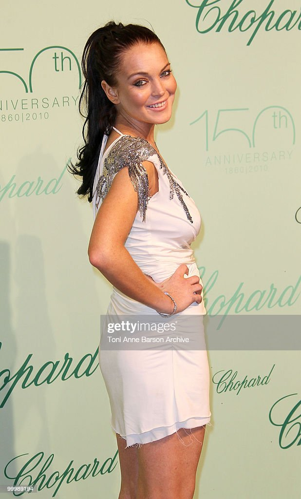 Actress Lindsay Lohan attends the Chopard 150th Anniversary Party at the VIP Room, Palm Beach during the 63rd Annual International Cannes Film Festival on May 17, 2010 in Cannes, France.