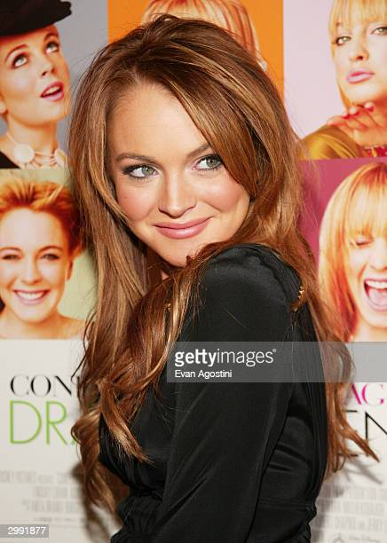 Actress Lindsay Lohan attends the 'Confessions Of A Teenage Drama Queen' premiere at the Loews EWalk Theater February 17 2004 in New York City