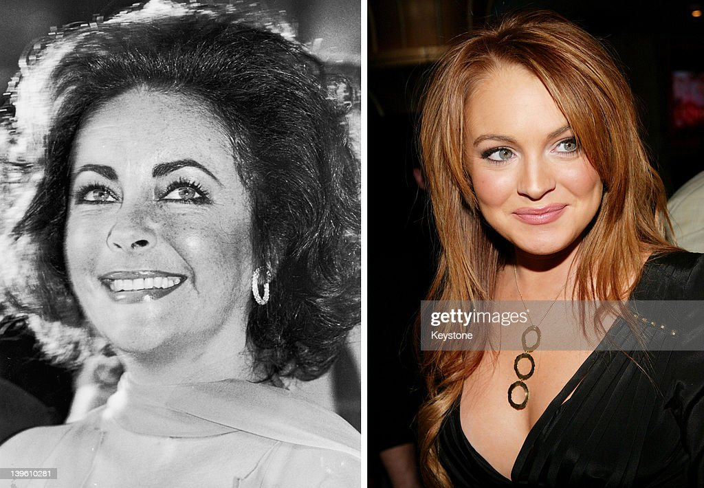 In this composite image a comparison has been made between <a gi-track='captionPersonalityLinkClicked' href=/galleries/search?phrase=Elizabeth+Taylor&family=editorial&specificpeople=69995 ng-click='$event.stopPropagation()'>Elizabeth Taylor</a> (L) and actress <a gi-track='captionPersonalityLinkClicked' href=/galleries/search?phrase=Lindsay+Lohan&family=editorial&specificpeople=171623 ng-click='$event.stopPropagation()'>Lindsay Lohan</a>. Actress <a gi-track='captionPersonalityLinkClicked' href=/galleries/search?phrase=Lindsay+Lohan&family=editorial&specificpeople=171623 ng-click='$event.stopPropagation()'>Lindsay Lohan</a> will reportedly play <a gi-track='captionPersonalityLinkClicked' href=/galleries/search?phrase=Elizabeth+Taylor&family=editorial&specificpeople=69995 ng-click='$event.stopPropagation()'>Elizabeth Taylor</a> in an upcoming TV movie biopic currently titled 'Liz and Dick' to be aired on Lifetime, an American television cable network. NEW YORK - FEBRUARY 17: (U.S. TABS AND HOLLYWOOD REPORTER OUT) Actress <a gi-track='captionPersonalityLinkClicked' href=/galleries/search?phrase=Lindsay+Lohan&family=editorial&specificpeople=171623 ng-click='$event.stopPropagation()'>Lindsay Lohan</a> attends the 'Confessions Of A Teenage Drama Queen' premiere on February 17, 2004 at the Loews E-Walk Theater, in New York City.