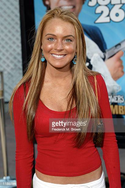 Actress Lindsay Lohan attends the film premiere of Austin Powers in Goldmember on July 22 in Los Angeles California The film opens nationwide on July...