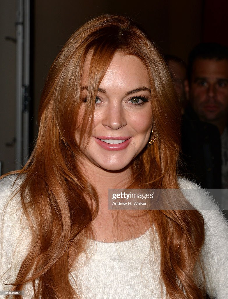 Actress Lindsay Lohan attends the Lindsay Lohan Press Conference at Social Film Loft during the 2014 Park City on January 20 2014 in Park City Utah