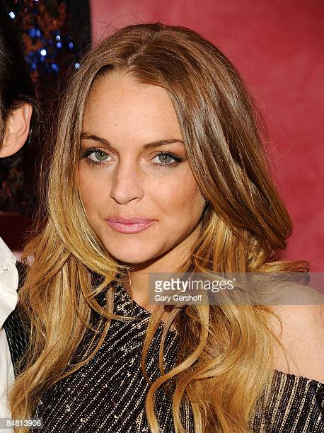Actress Lindsay Lohan attends the New York store opening celebration for Matthew Williamson at 415 West 14th Street on February 15 2009 in New York...