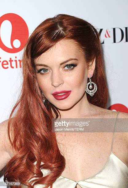 Actress Lindsay Lohan attends the premiere of Lifetime's 'Liz Dick' at Beverly Hills Hotel on November 20 2012 in Beverly Hills California