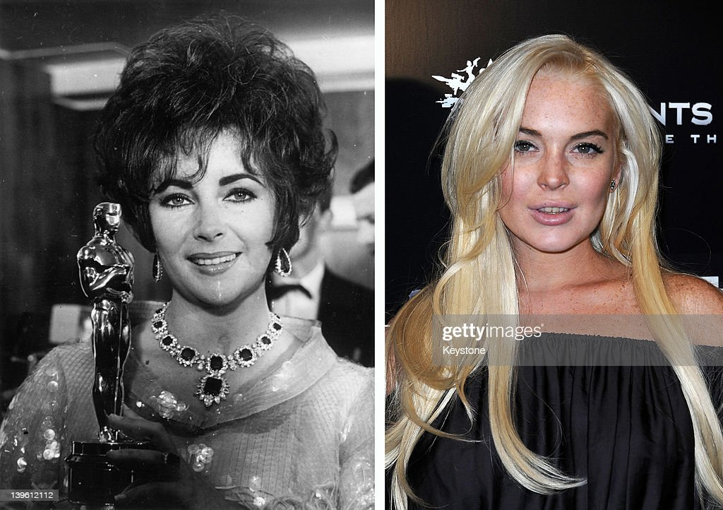 In this composite image a comparison has been made between Elizabeth Taylor (L) and actress Lindsay Lohan. Actress Lindsay Lohan will reportedly play Elizabeth Taylor in an upcoming TV movie biopic currently titled 'Liz and Dick' to be aired on Lifetime, an American television cable network. LOS ANGELES, CA - OCTOBER 12: Actress Lindsay Lohan attends the Premiere Of THQ's 'Saints Row: The Third' on October 12, 2011 in Los Angeles, California.