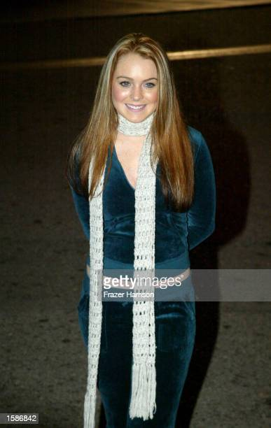 Actress Lindsay Lohan attends the The Neil Bogart Memorial Fund annual tour for a Cure concert held at Universal Amphitheatre on November 4 2002 in...