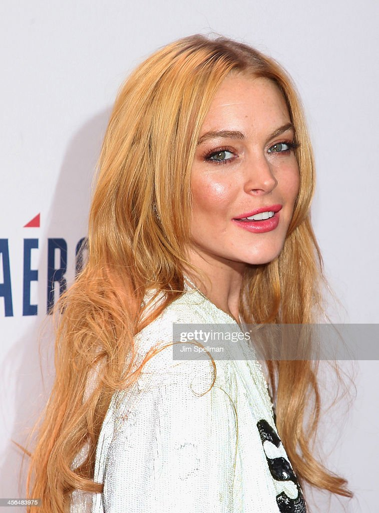 Actress Lindsay Lohan attends Z100's Jingle Ball 2013 at Madison Square Garden on December 13, 2013 in New York City.