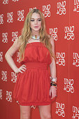 US actress Lindsay Lohan poses for the media during the photocall of an advertisement even held in Madrid Spain 09 June 2016