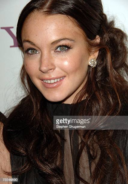 Actress Lindsay Lohan poses in the press room at The Hollywood Film Festival 10th Annual Hollywood Awards Gala Ceremony at the Beverly Hilton Hotel...