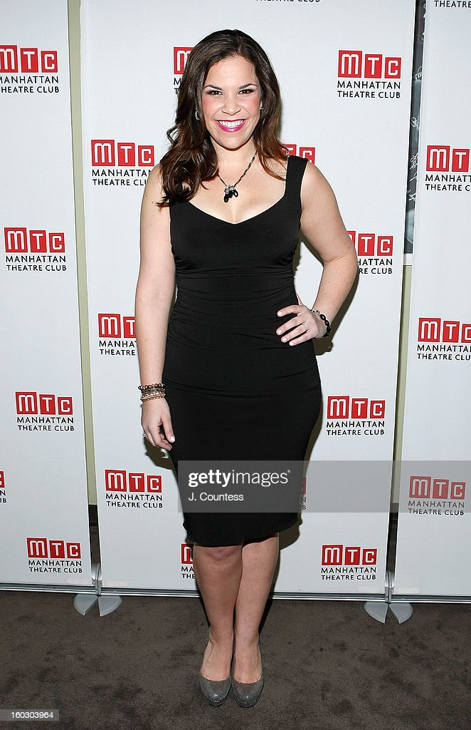 Actress Lindsay Mendez attends the 2012 Manhattan Theatre Club Benefit: An Intimate Night at Jazz at Lincoln Center on January 28, 2013 in New York City.