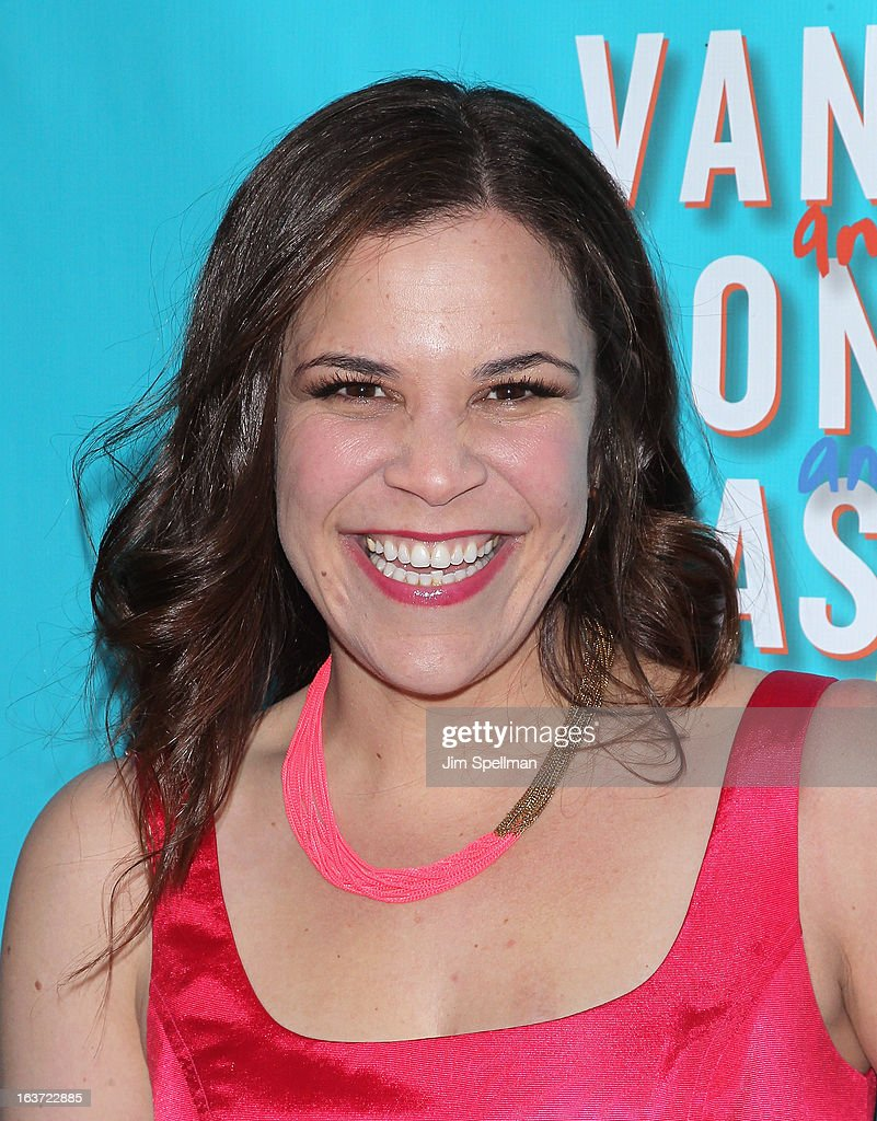 Actress Lindsay Mendez attends the 'Vanya And Sonia And Masha And Spike' Broadway opening night at The Golden Theatre on March 14, 2013 in New York City.