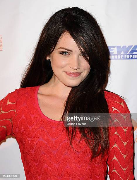 Actress Lindsay Pearce attends Prom 2014 A Night Out For Trevor at Petersen Automotive Museum on May 31 2014 in Los Angeles California