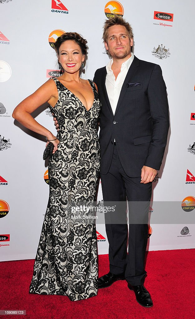 Actress Lindsay Price and chef Curtis Stone arrive for the G'Day USA Black Tie Gala held at at the JW Marriot at LA Live on January 12, 2013 in Los Angeles, California.