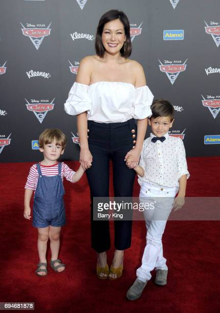 Actress Lindsay Price and family attend the World Premiere of Disney and Pixar's 'Cars 3' at Anaheim Convention Center on June 10 2017 in Anaheim...