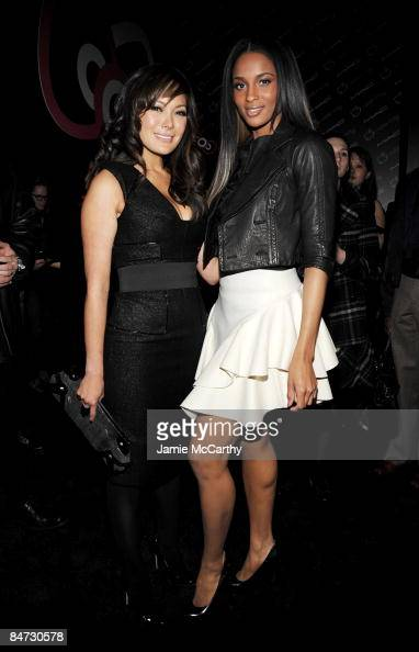 Actress Lindsay Price and singer Ciara attend the 'Hello Kitty Commotion' hosted by MAC Cosmetics and V Magazine at Cedar Lake on February 5 2009 in...